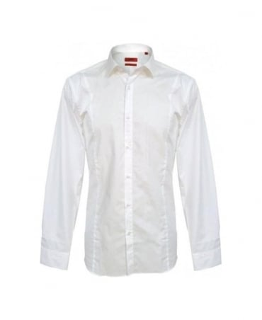 Hugo White Etello 50249022 Slim Fit Shirt