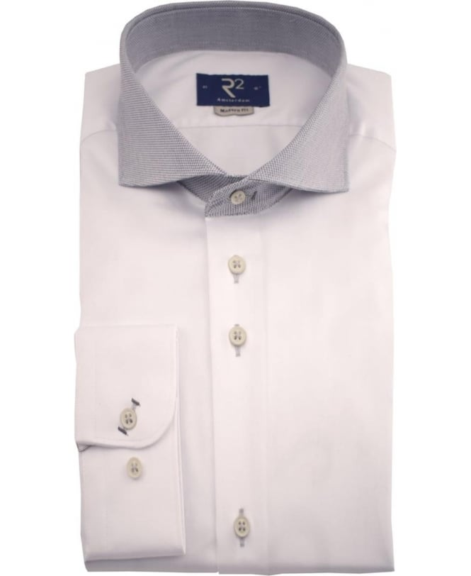 R2 Amsterdam White Fancy 01 Modern Fit Shirt