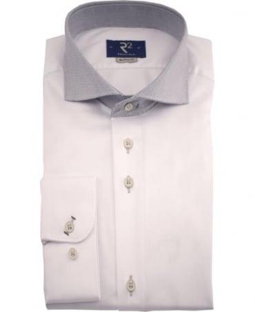 R2 Westbrook White Fancy 01 Modern Fit Shirt