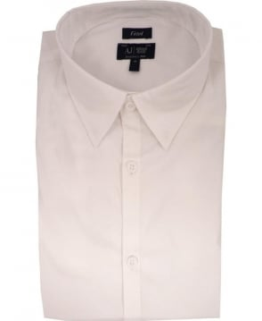 Armani Jeans White Fitted 06C68 Shirt