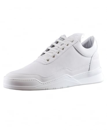 Filling Pieces White Ghost Matt Nubuck Low Top Trainers
