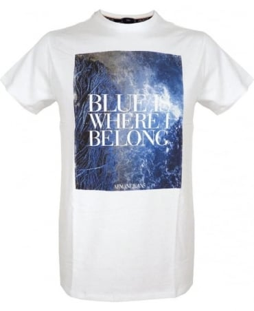 White Graphic Slim Fit T-Shirt