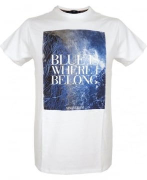 Armani White Graphic T-Shirt