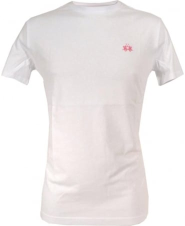 La Martina White HMR018 Chest Logo T-shirt