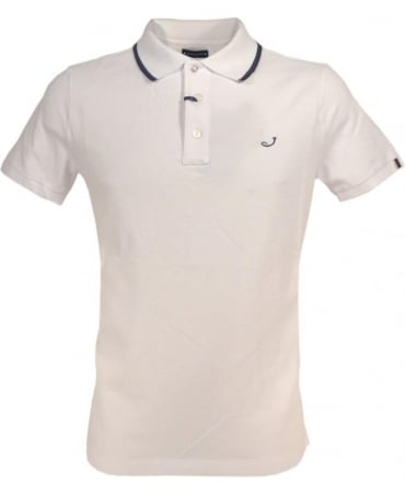 White J492 Navy and Green Trim Polo