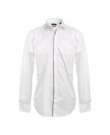 Hugo Boss White Jamison Shark Collar Shirt