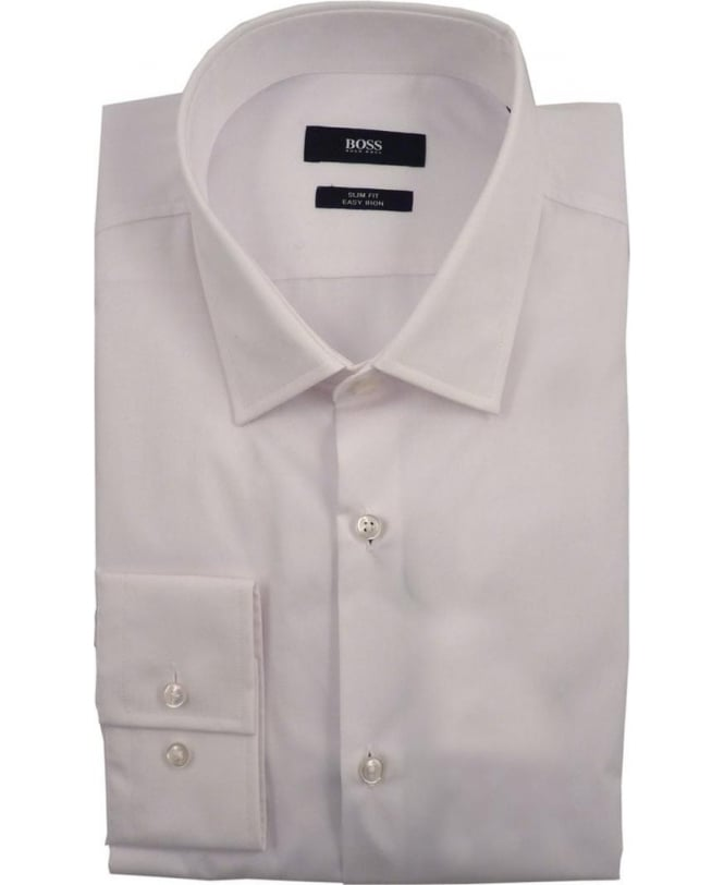 Hugo Boss White Jenno 50229376 Slim Fit Shirt