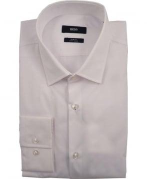 Hugo Boss White Jenno 50229376 Slim Fit Shirt