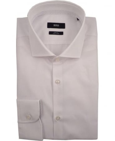 Hugo Boss White Jery 50310481 Slim Fit Shirt