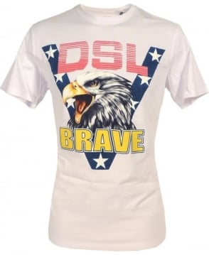 Diesel White Joe Ab Eagle T-shirt