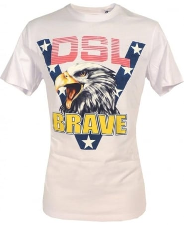 Diesel White Joe Ab Eagle T-shirt