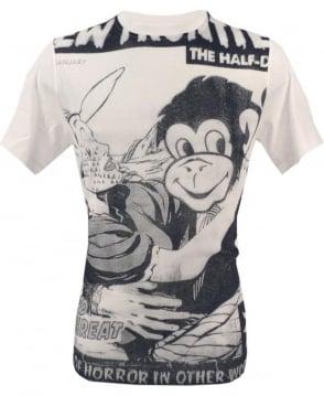 Paul Smith  White JPPJ-534H-P9487 Large Comic Print T-shirt