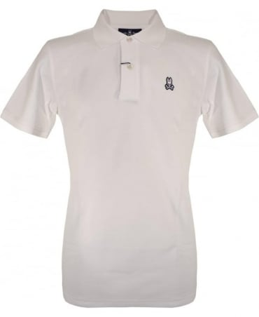 Psycho Bunny White KR0001 Polo Shirt