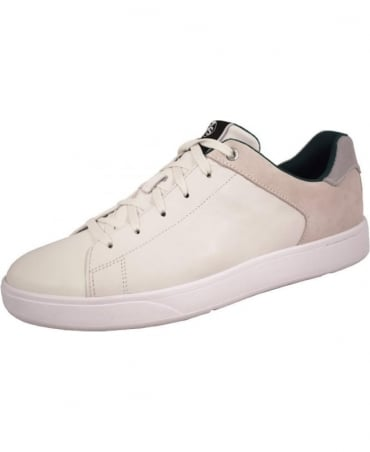 White Leather Serge Trainers