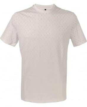 Armani White Letter Print T-Shirt