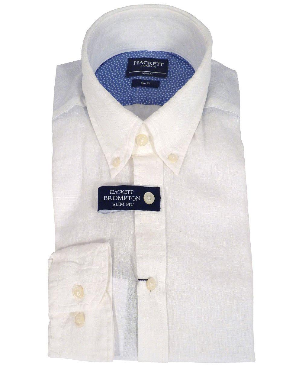 Hackett white linen slim fit brompton shirt hackett from for Slim fit white linen shirt