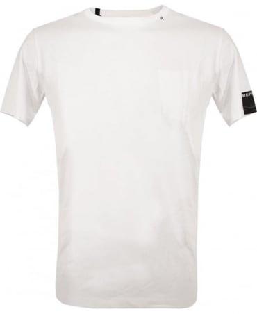 Replay White Logo Crew Neck T-Shirt