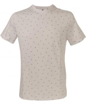 Armani Jeans White Logo Print Crew Neck T/Shirt
