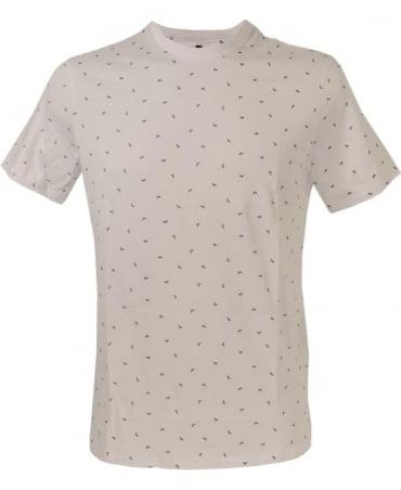 Armani White Logo Print Crew Neck T/Shirt