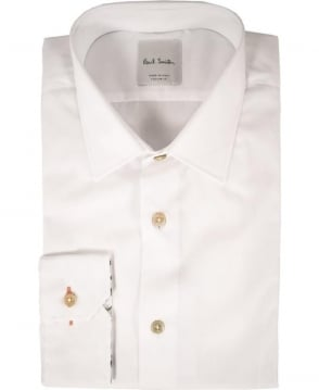 Paul Smith  White long sleeve Flower Design Inside Cuff Shirt