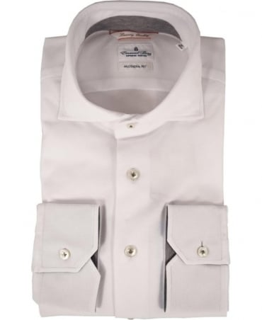 Emanuel Berg White Long Sleeve Modern Fit Shirt