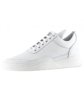 Filling Pieces White Low Top Ghost Nappa Trainers