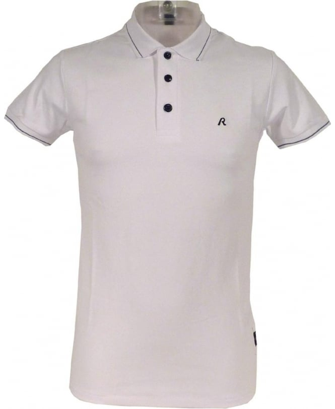 Replay White M6894 Short Sleeve Polo Shirt