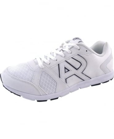 Armani White Mesh Fabric A651917 Trainer
