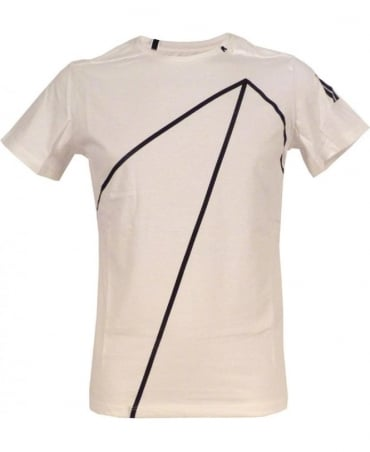 Replay White One Off Jersey T-shirt With Print