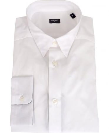 Paul Smith - PS White Pattern Cuff Slim Fit Shirt