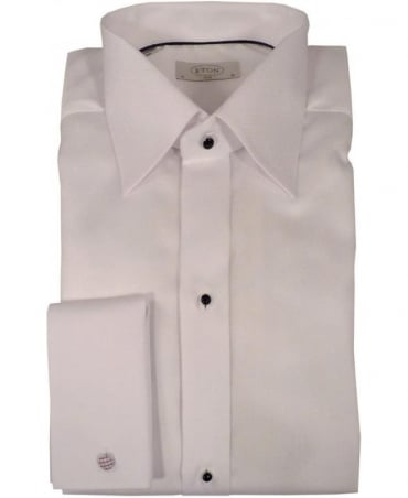 Eton Shirts White Pique Evening Shirt