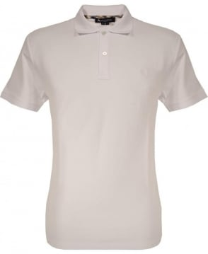 Aquascutum White Piquet 2 Button Polo