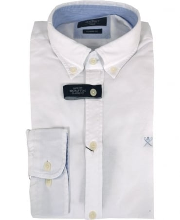 Hackett White Plain Oxford Classic Fit Shirt