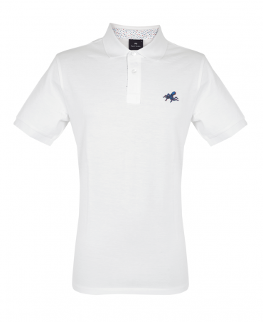 White Polo Shirt With Embroidered 'Octopus'