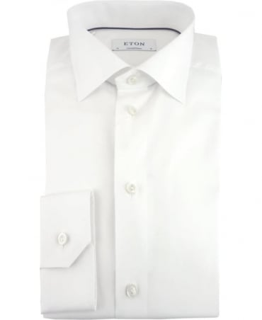 Eton Shirts White Poplin Contemporary Fit Shirt