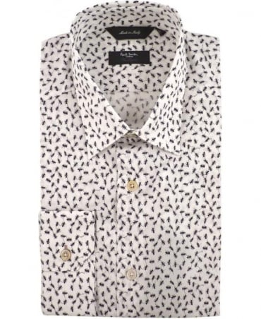 Paul Smith - London White PPXL-659A-R79 All Over Ant Print