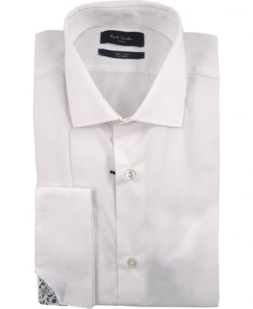 Paul Smith - London White PPXL-805P-R01 Double Cuff Shirt