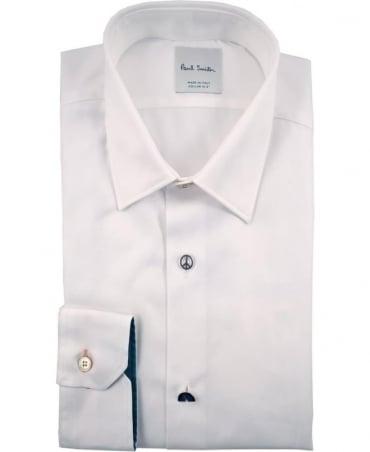 Paul Smith  White PRXC-800P-V17NOV Different Button Shirt