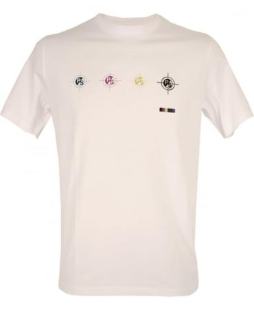 PS By Paul Smith White PSXD/011R/P10487/W 'Targets' T/Shirt