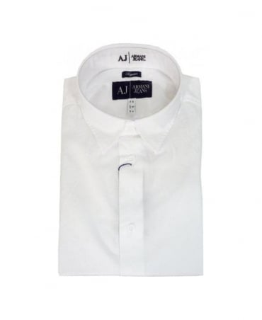 Armani White Regular Fit Shirt