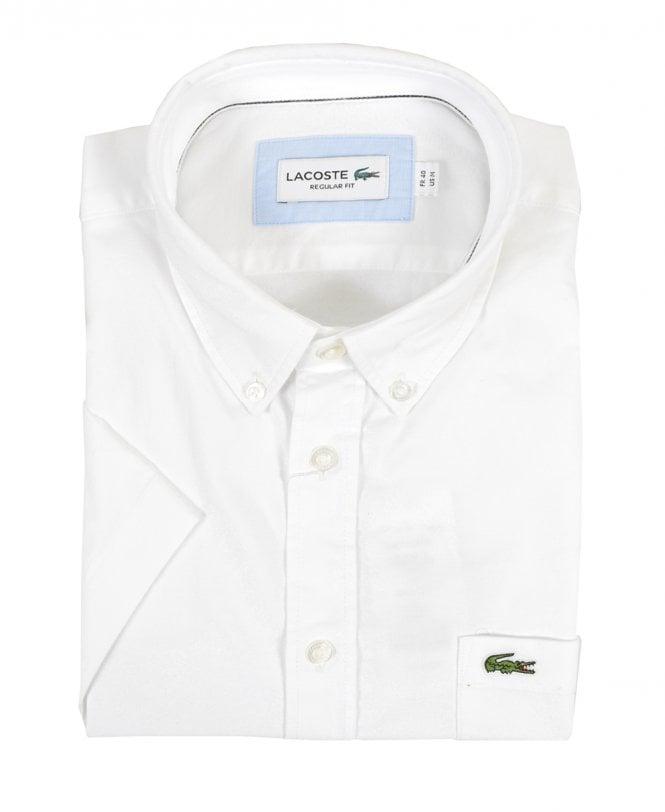 478b120a Lacoste White Regular Fit Short Sleeve Shirt