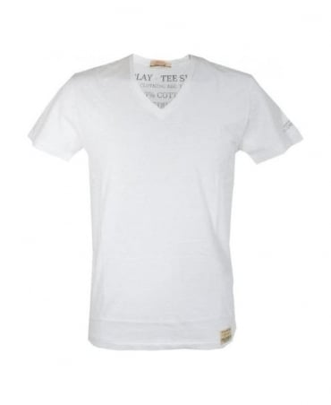 Replay White Regular Fit T-Shirt