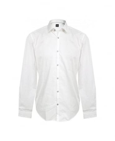 Hugo Boss White Riccardo 50253312 Slim Fit Shirt