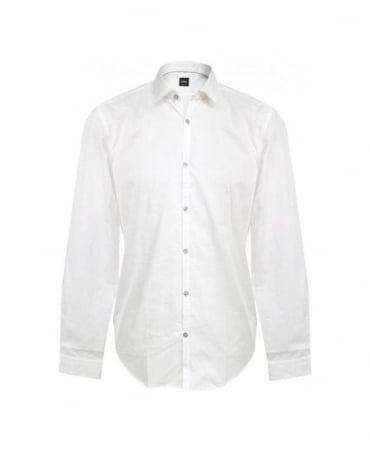 Hugo Boss White Riccardo 50253312 Slim Fit Shirt
