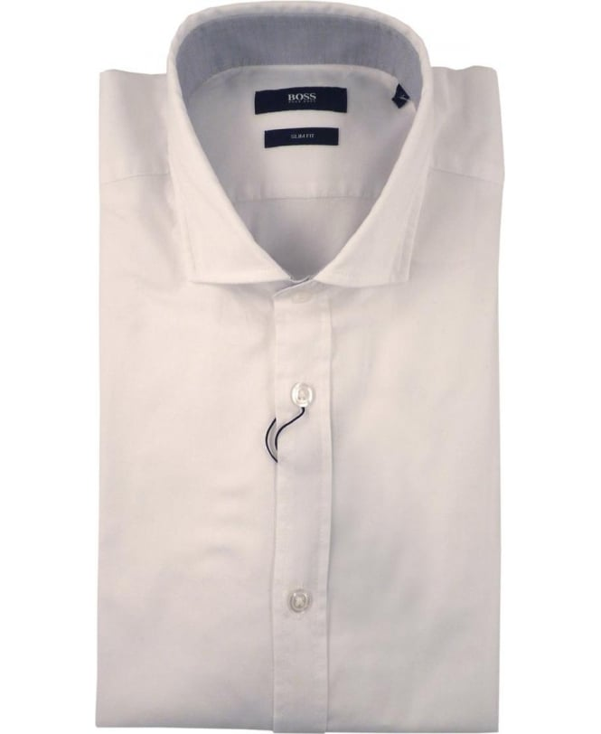 Hugo Boss White Ridley 2 50308344 Slim Fit Shirt