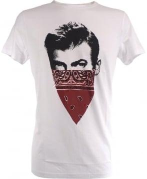 Hugo Boss White 'Schoolyard Band It' Chest Motif Taye 1 T/Shirt