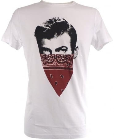Hugo Boss White 'Schoolyard Band It' Chest Motif Taye 1 T/Shirt