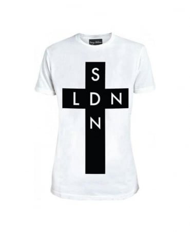 Serge DeNimes White SDN X LDN Cross T-Shirt