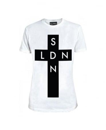 Serge DeNimes White SDN X LDN Cross T-Shirt