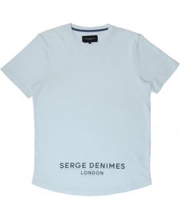 Serge DeNimes White Shawfield Oversized Curved Hem T-shirt